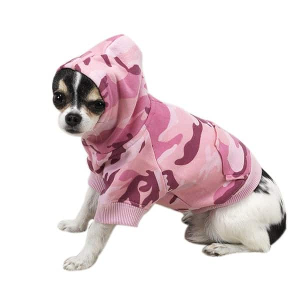 Pink Camo Dog Hoodie