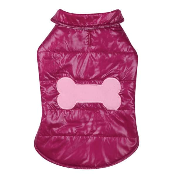 Pink Snow Puff Dog Vest