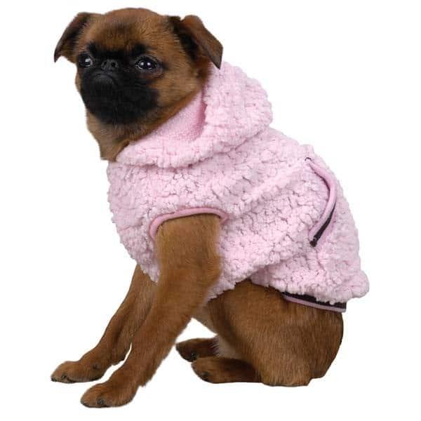 Pink Snowbaby Dog Hoodie
