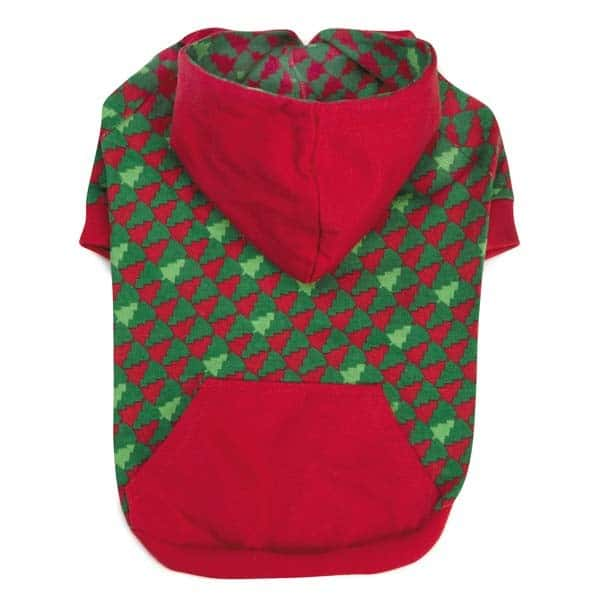 Red & Green Festive Holiday Dog Hoodie
