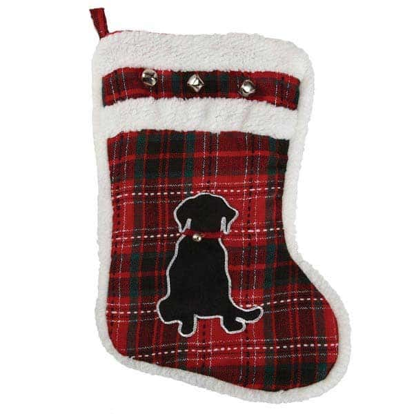 Red Plaid Dog Stocking