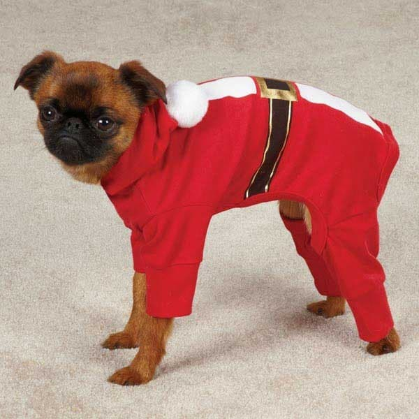 Red Santa Dog Pajama Suit