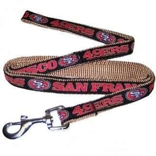 San Francisco 49ers Dog Leash - Ribbon
