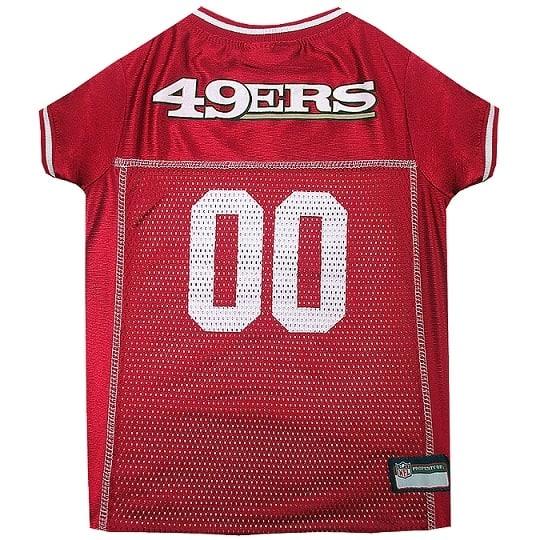 San Francisco 49ers Pet Football Jersey