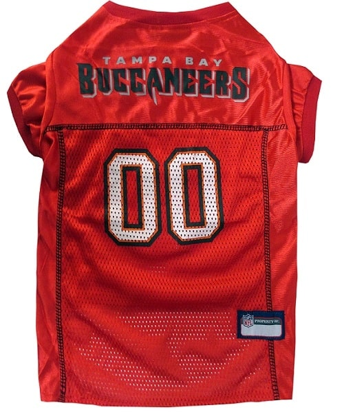Tampa Bay Buccaneers Dog Jersey - Red Trim