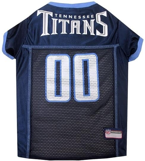 Tennessee Titans Dog Jersey - Blue Trim