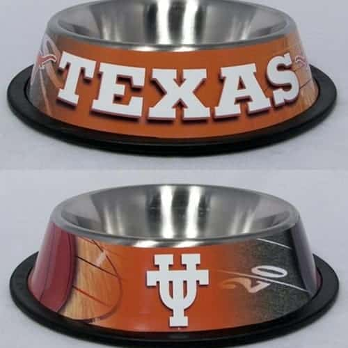 Texas Longhorns Dog Bowl - Stainless