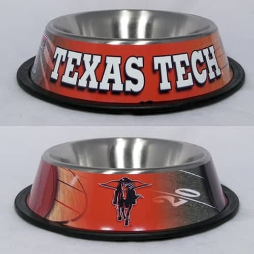Texas Tech Dog Bowl - Stainless