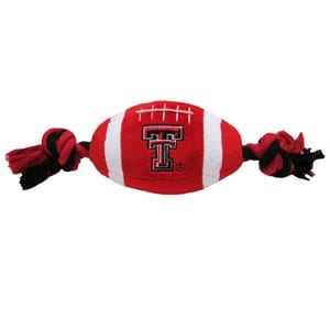 Texas Tech Plush Football Dog Toy