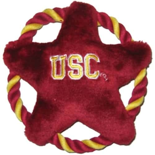 USC Trojans Rope Disk Dog Toy