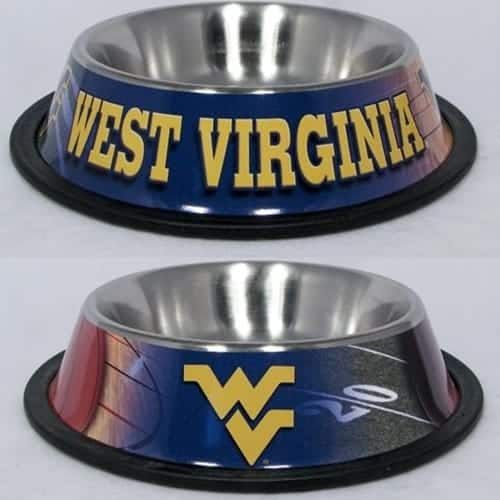 West Virginia Dog Bowl - Stainless