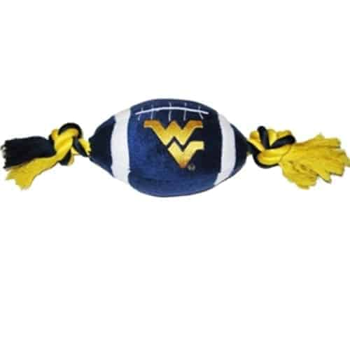 West Virginia Plush Football Dog Toy