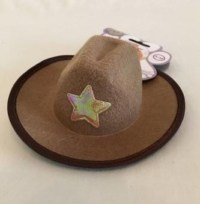 Brown Dog & Cat Cowboy Hat with Star