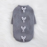 Luxury Dainty Bow Dog Sweater
